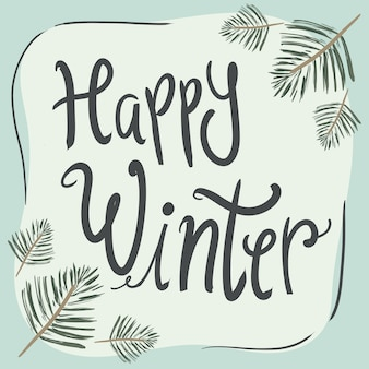 Happy winter greeting cards