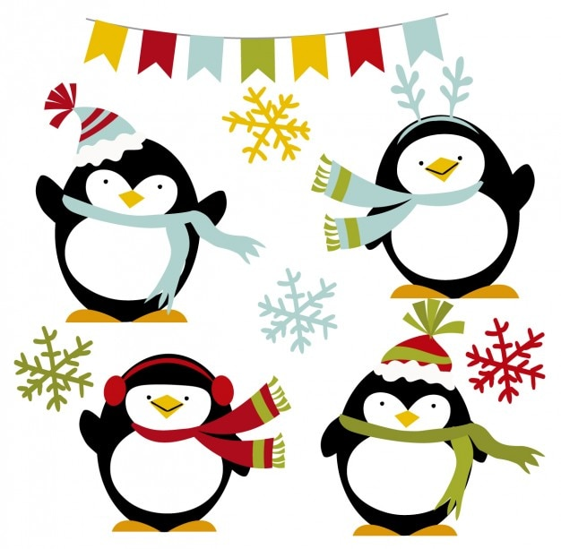 Happy winter penguins
