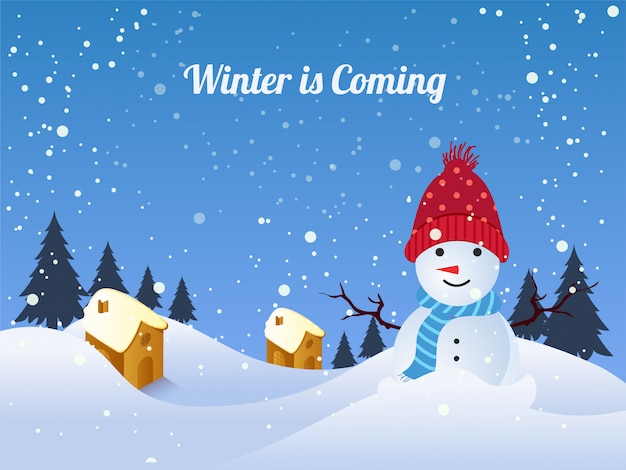 Счастливый фон зимы.