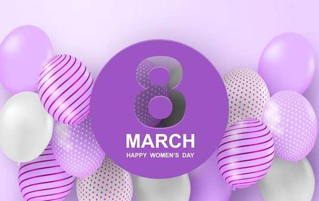 Happy woman's day background.