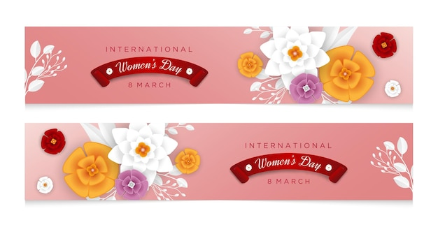 Happy woman's day banner