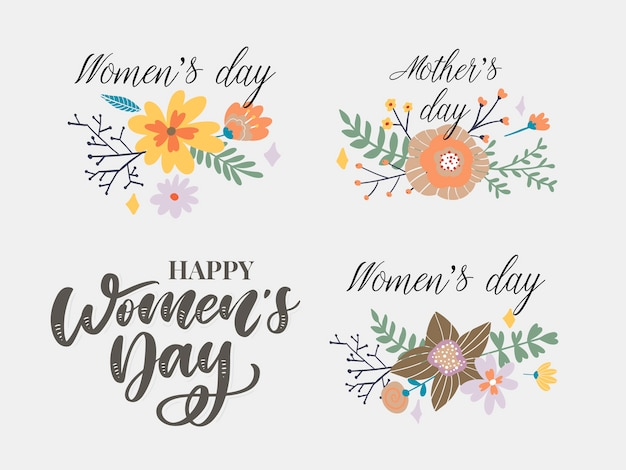 Happy woman's day congratulation
