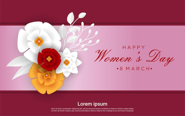 Happy woman's day with floral
