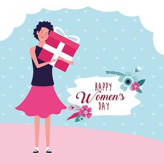 Happy women day card