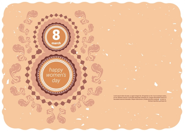 Happy women day holiday background with copyspace 8 march concept