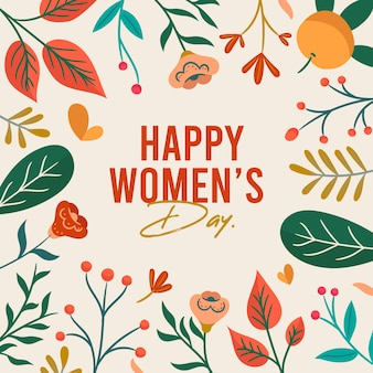 Happy women day message concept