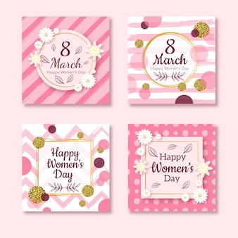 Happy women's day 8 march card collection
