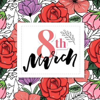 Happy women's day 8 march