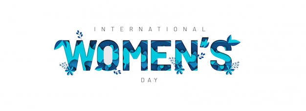 Happy women's day banner.