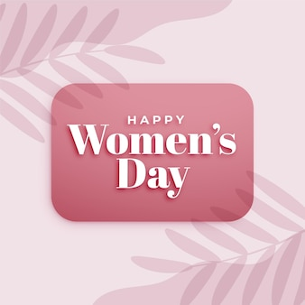 Happy women's day celebration card layout