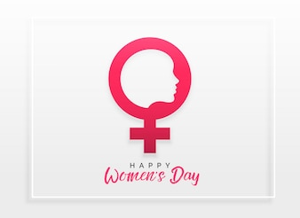 Happy women's day celebration concept design background