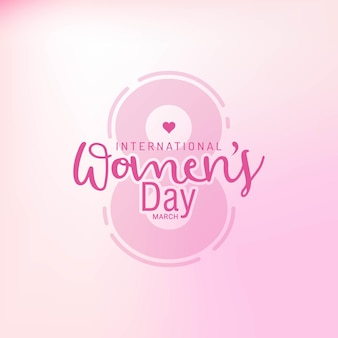 Happy women's day celebrations on march  with text stylish