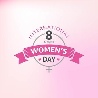 Празднование счастливого женского дня в марте с стильным текстом