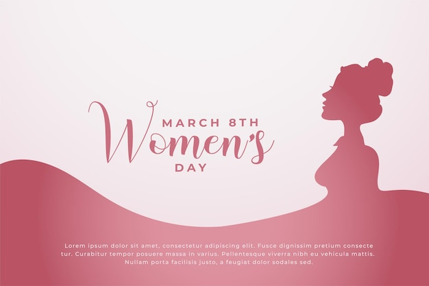 Happy women's day concept background