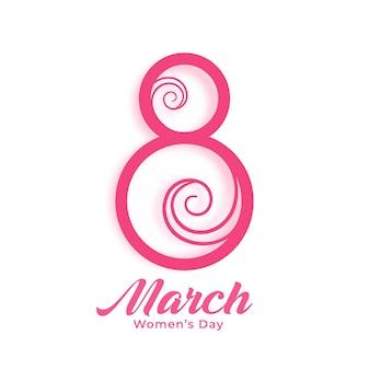 Счастливый женский день творческий фон Бесплатные векторы