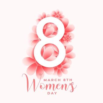 Cartolina d'auguri del fiore di giorno della donna felice