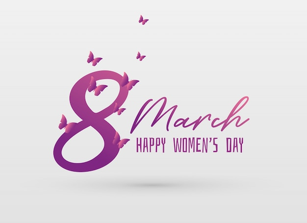 Happy women's day greeing card design background