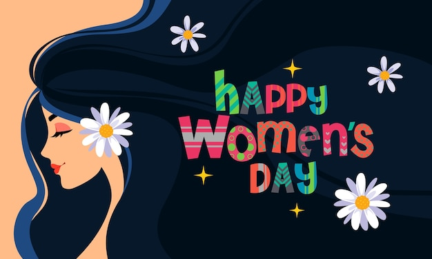 Happy women's day greeting card