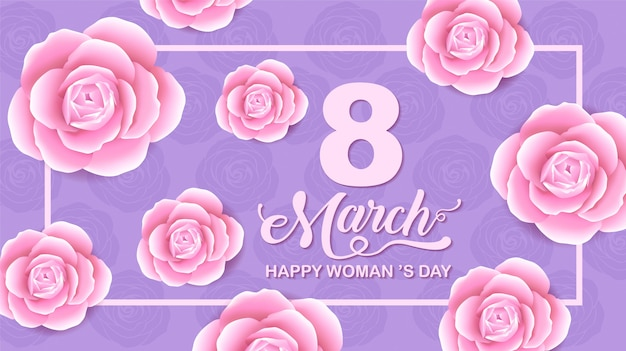 Happy women 's day holiday , 8 march, flower background.