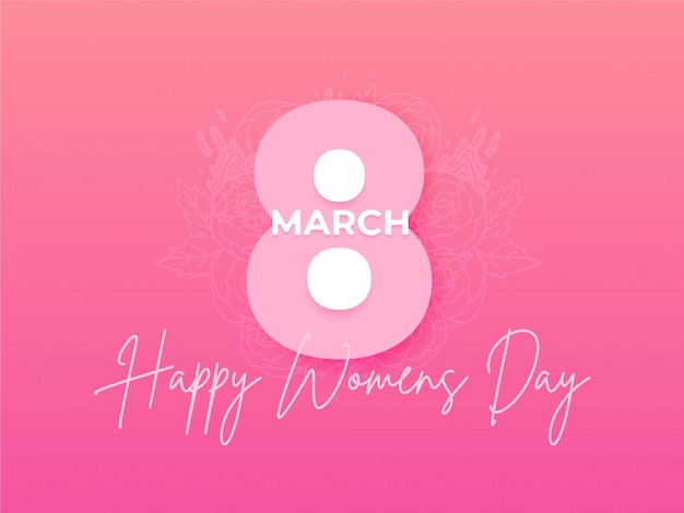 Happy women's day illustration holiday background