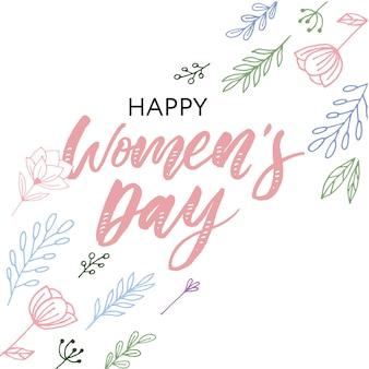 Happy women's day postcard.