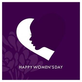 Happy women's day purple background Free Vector