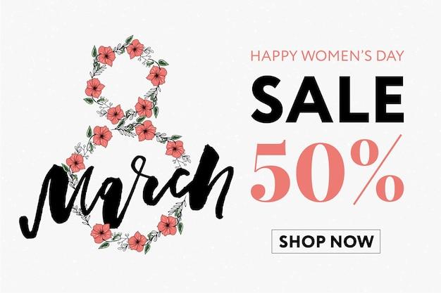 Happy women's day sale banner.