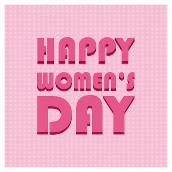Tipografia il giorno delle donne felici