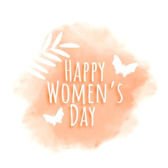 Happy women's day watercolor greeting card