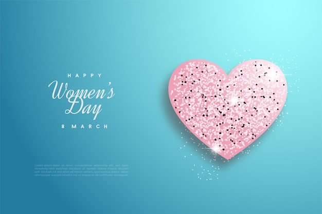 호화로운 러브 플레이트로 행복한 여성의 날.