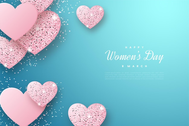 Happy women's day with gorgeous love plates.