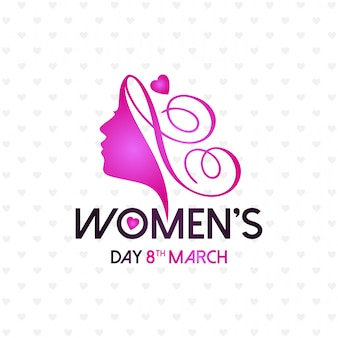 Happy Women's day with light pattern background and typography
