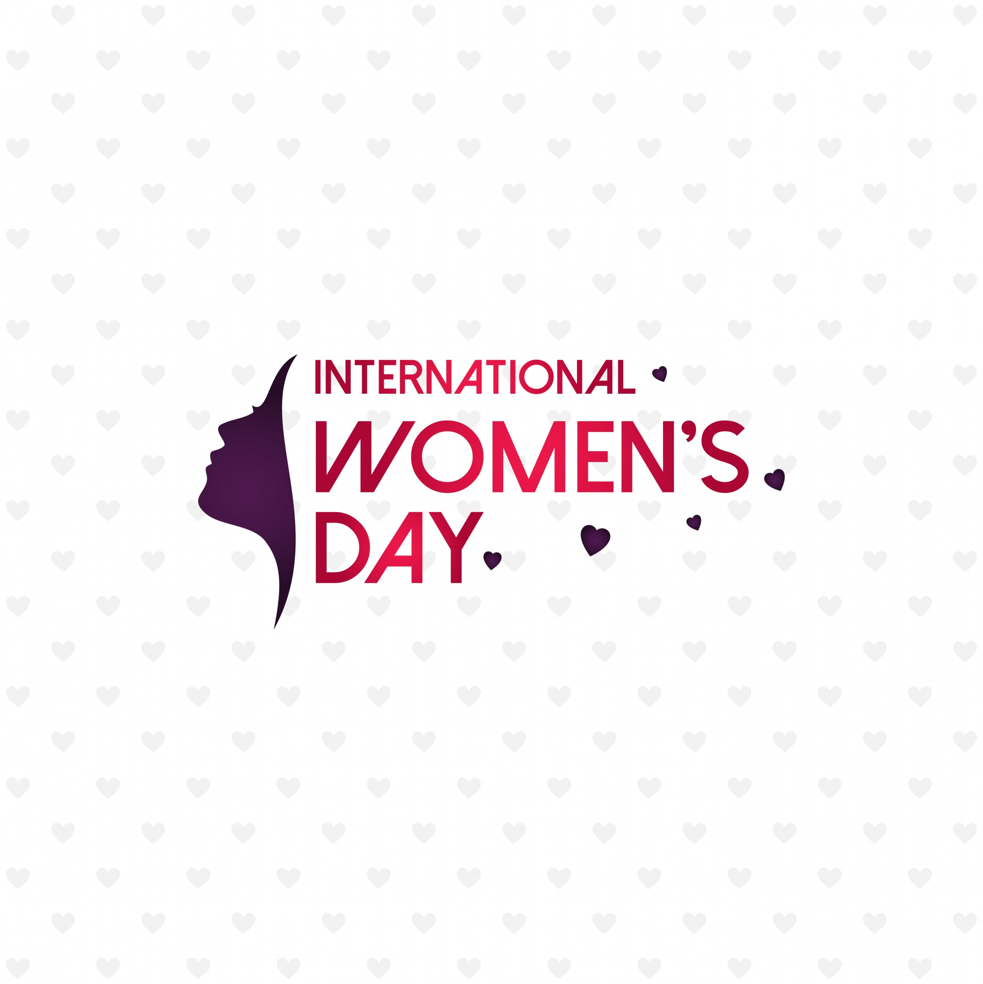Happy Women's day with pattern background and typography