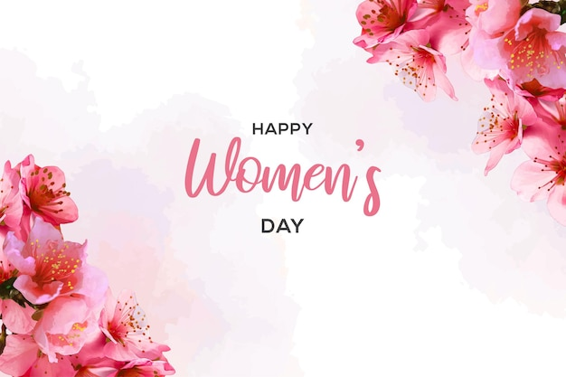 Счастливый женский день с акварельным стилем