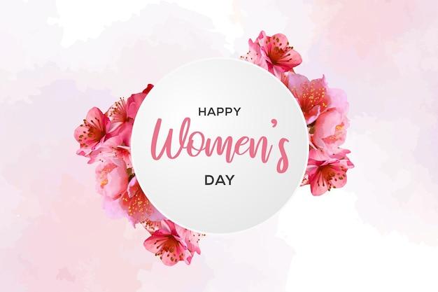 수채화 스타일로 행복한 여성의 날