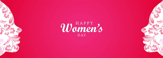 Happy women's day women face