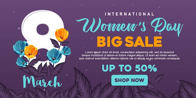 Happy womens day banner sale
