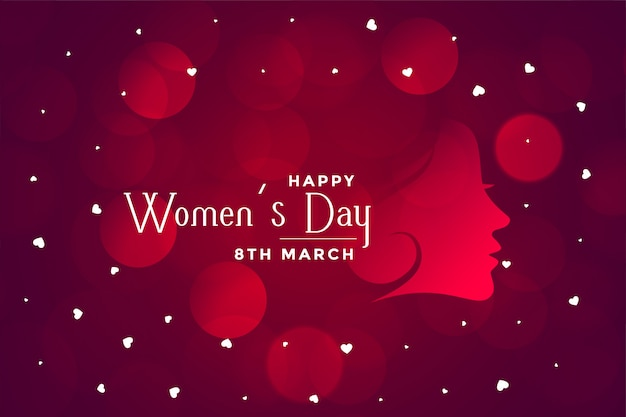 Happy womens day beautiful bokeh banner