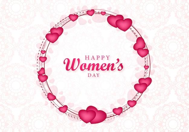 Happy womens day beautiful heart greeting card