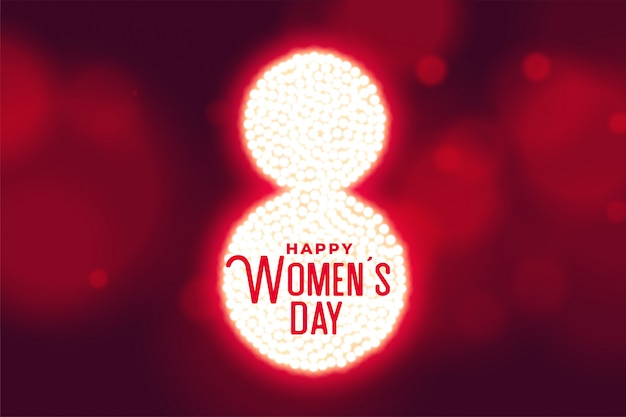 Happy womens day bokeh style background