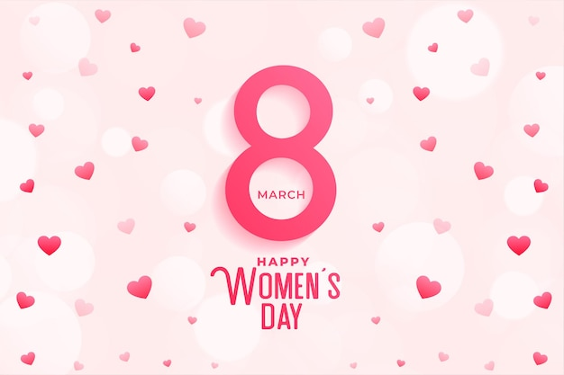 Happy womens day celebration heart background design