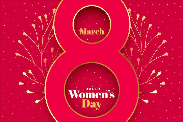 Happy womens day creative concept background