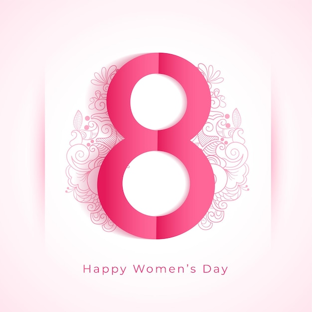 Happy womens day decorative greeting wishes background