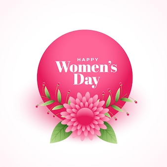 Happy womens day elegant flower decorative wishes card