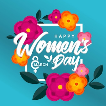 Happy womens day flower background