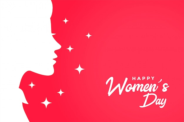 Happy womens day greeting card elegant background
