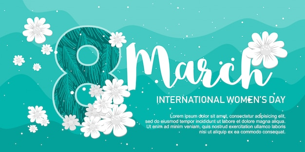 Happy womens day simple banner