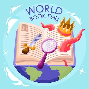 本で幸せな世界の本の日の冒険