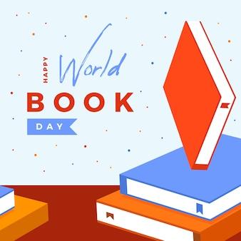 幸せな世界の本の日