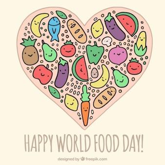 Happy world food day background